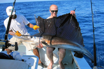 Jonatan with a sailfish